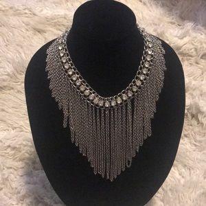 🔥statement bib silver necklace 🔥🔥🔥🔥🔥